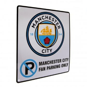 Manchester City No Parking Sign.